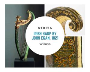 Irish harp by John Egan 1821